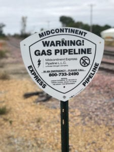 Midcontinent Express Pipeline Warning Gas Pipeline Sign